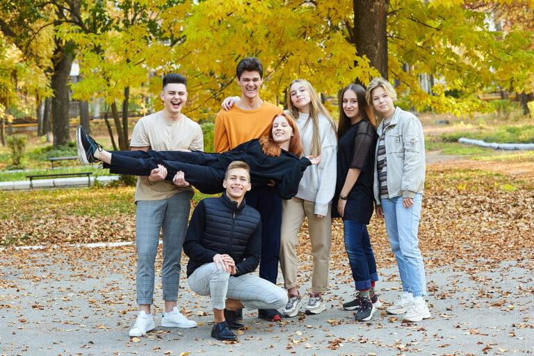 Осенняя съёмка на выпускной альбом фото 1